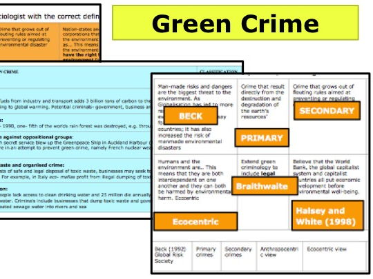 *TWO FULL LESSONS* Green Crime - A Level Sociology Crime and Deviance
