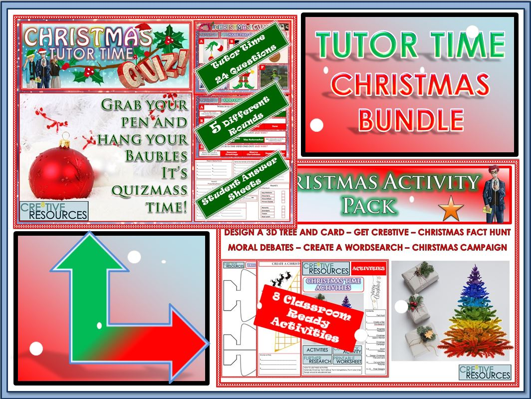 Christmas Quiz and Activity Tutor Time Bundle