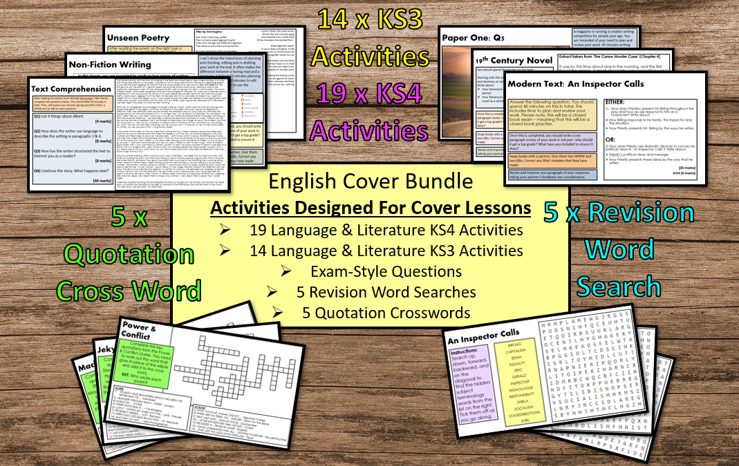 English Cover Work Bundle