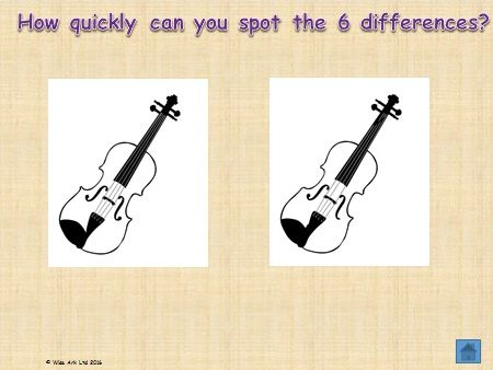 Observation challenges – odd one out & spot the differences