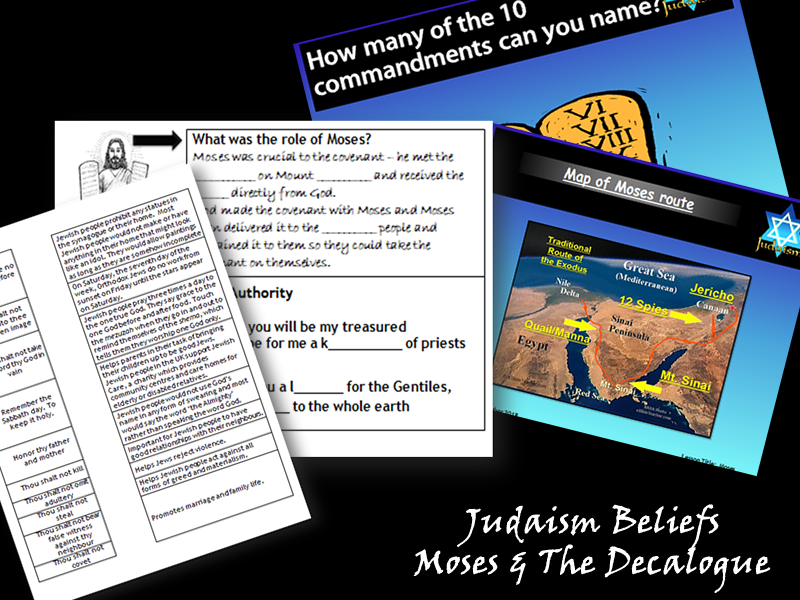 GCSE Judaism Beliefs - Moses and The Decalogue (2 Lessons)