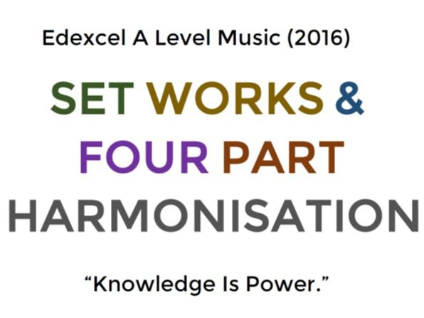 A Level Music Set Works
