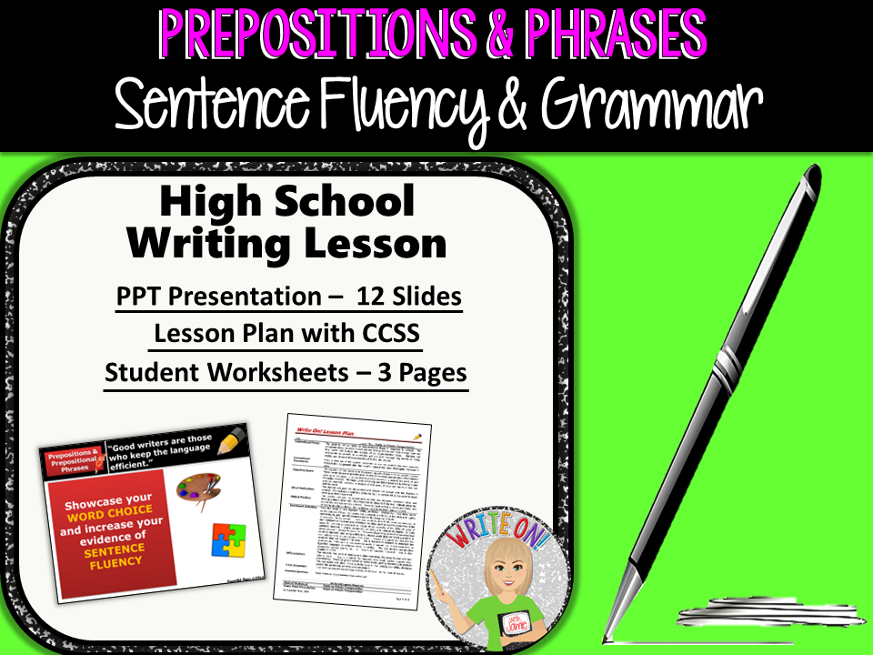 Prepositions prepositional phrases sentence fluency grammar prepositions prepositional phrases sentence fluency grammar in writing high school by morgenstern93 teaching resources tes malvernweather Images