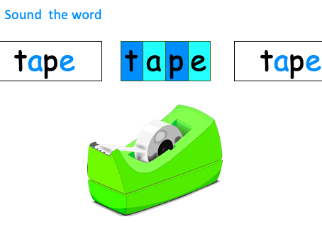 Phonics - 'a-e' as in tape - Introduce and Teach