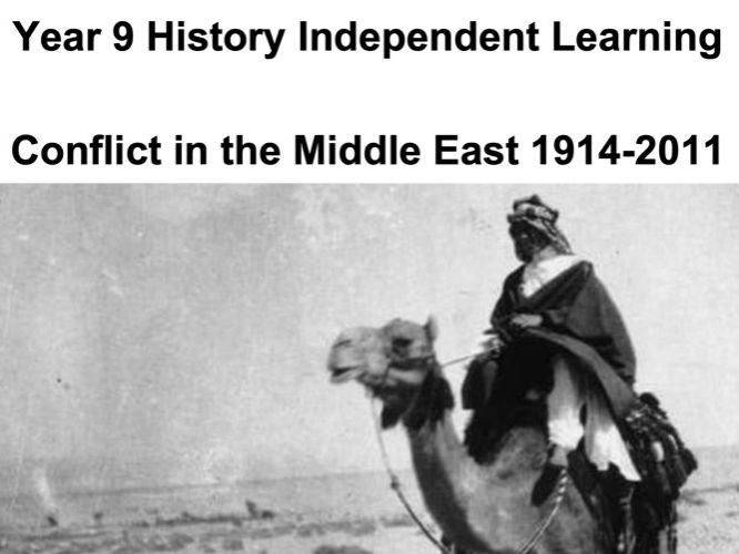Y9 Conflict in the Middle East work booklet