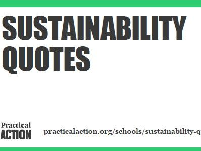 Sustainability quotes