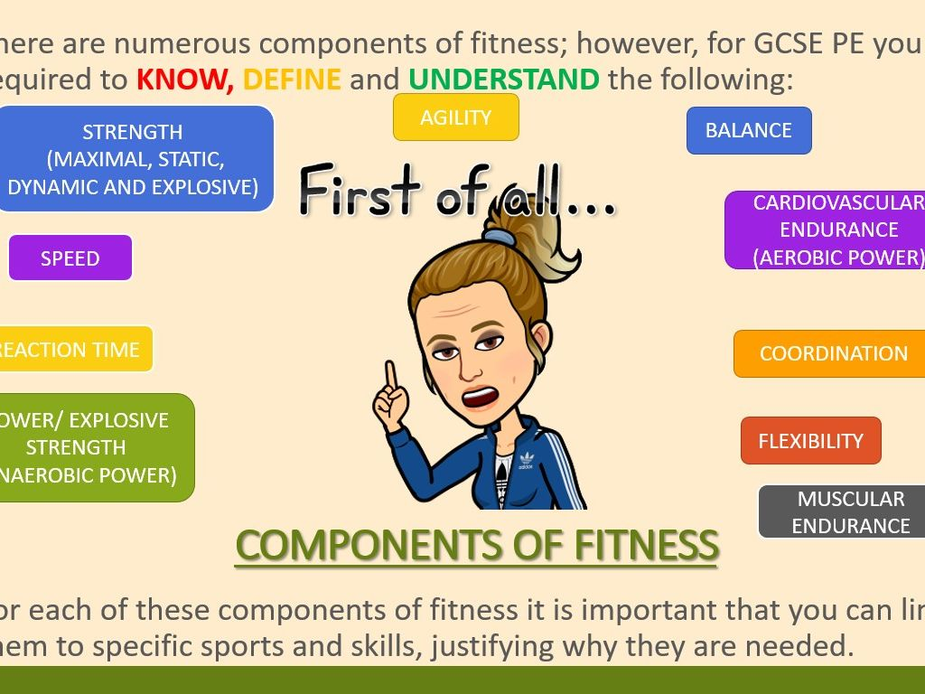 AQA GCSE PE (9-1) Physical Training - Components of Fitness