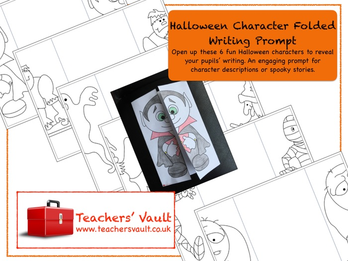 Halloween Character Folded Writing Prompt