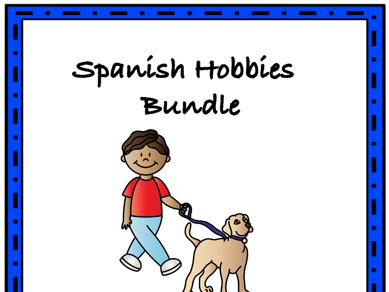 Spanish Hobbies Bundle: Los pasatiempos - TOP 5 Resources at 40% off!