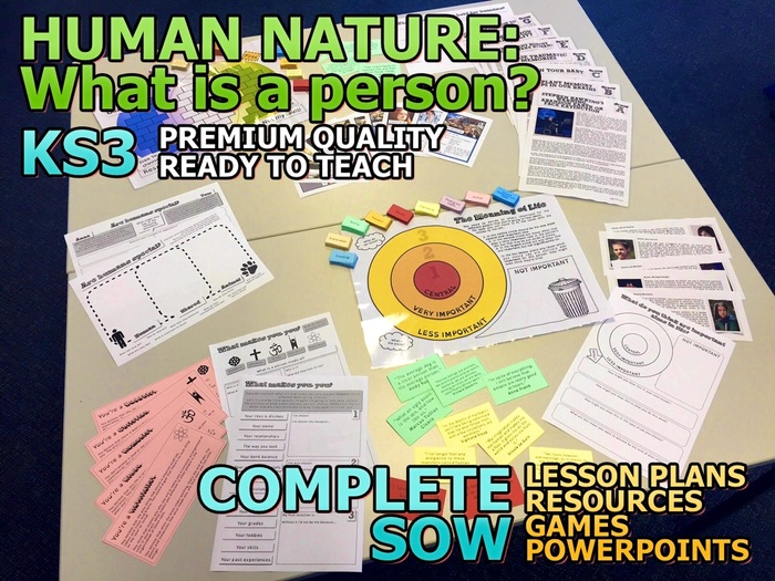 Human Nature: What is a person? Complete KS3 SOW and Resources