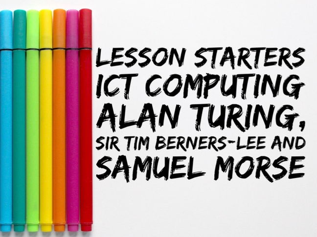 Lesson Starters - ICT/Computing