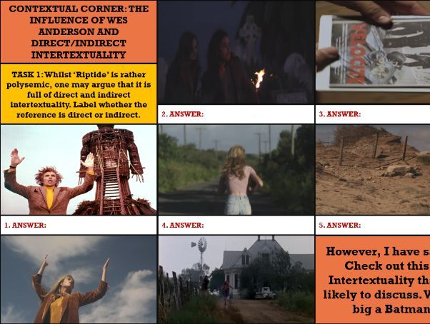 UPDATED YEAR 13- MUSIC VIDEOS 'RIPTIDE' (COMP 1 SEC A) MEDIA LANG