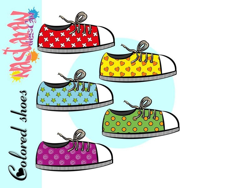 Free Colored Shoes Clip art