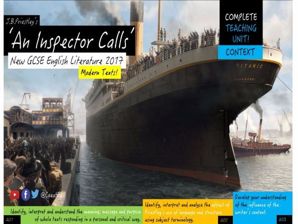 An Inspector Calls, COMPLETE CONTEXT UNIT!  New  GCSE ENGLISH LITERATURE (2 Weeks Teaching)