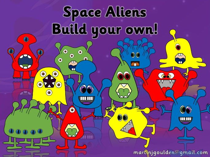 Aliens - Create, make and build your own space aliens!