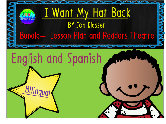I Want My Hat Back by Jon Klassen Bundle Lesson Plan, Activities, and Readers Theater