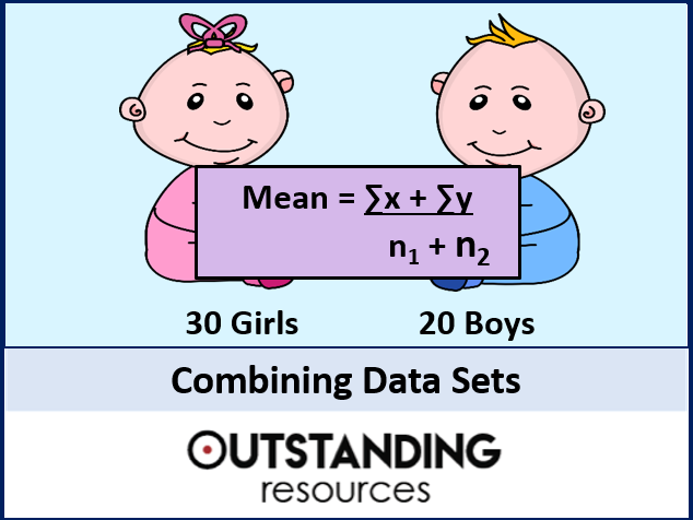 Combining Data Sets (Combining the Mean and Standard Deviation) + worksheet