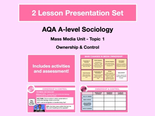 Ownership and Control - AQA A-level Sociology - Mass Media Unit - Topic 1