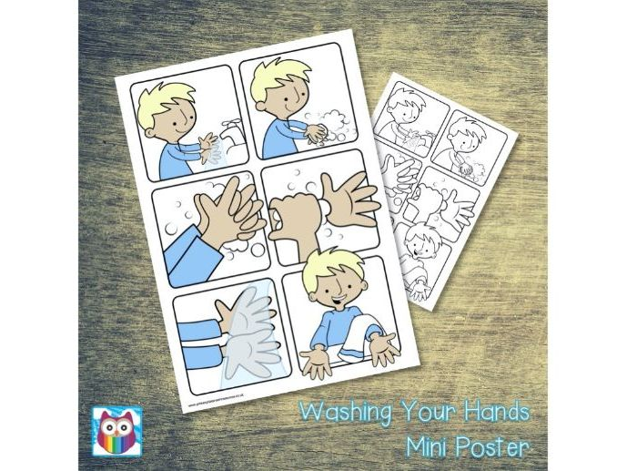 Washing Your Hands Mini Poster/Help Mat