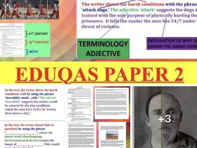 Paper 2 All tasks revision PowerPoint (370 slides) - EDUQAS GCSE English Language