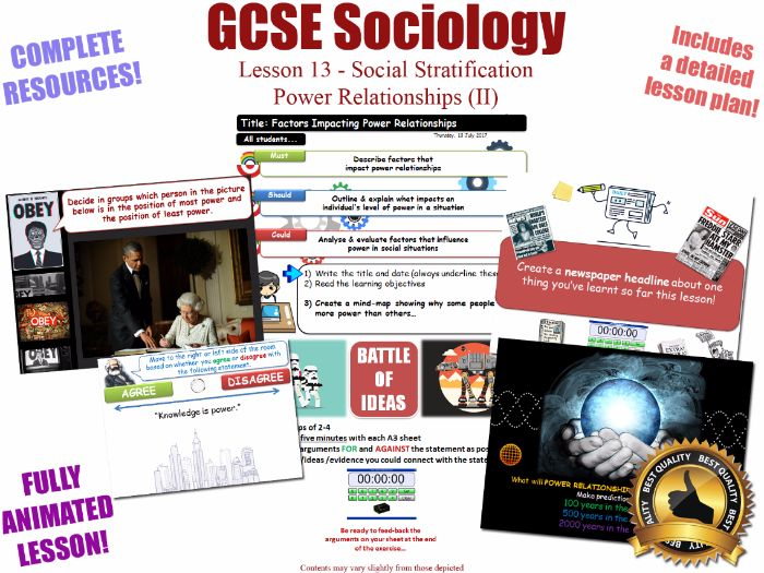 Power Relationships (II) - Social Stratification -L13/20 [ WJEC EDUQAS GCSE Sociology ]