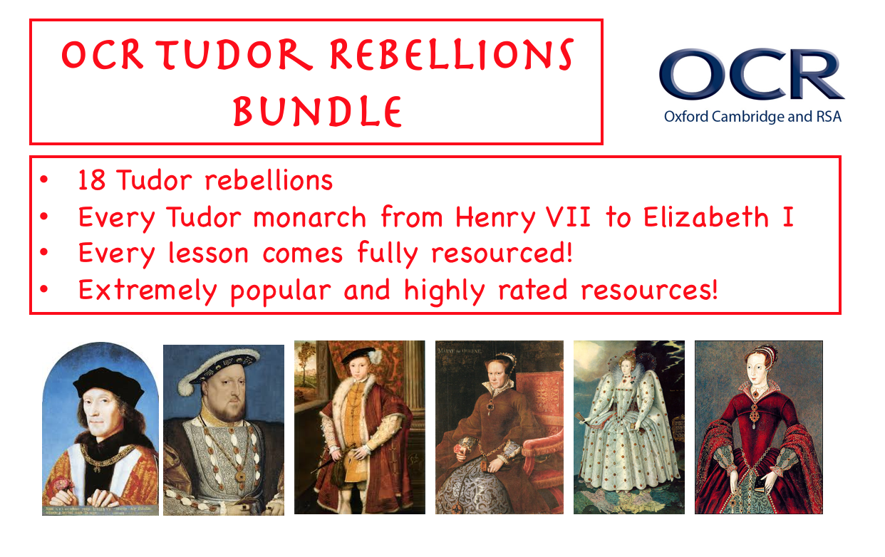 OCR Tudor Rebellions BUNDLE!!