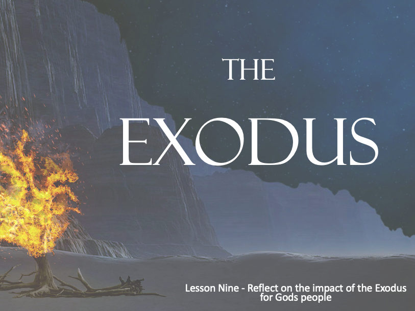 MOSES - The Exodus and Crossing the Red Sea - Lesson 9 - 2+Hours