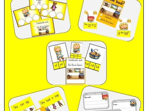 Goldilocks and the Three Bears - phonics bundle resources