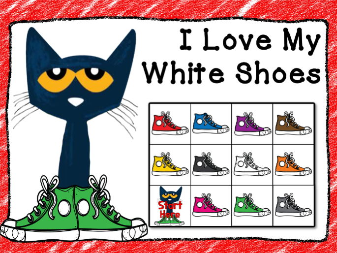 Bee-Bot-Pete the Cat, I Love My White Shoes Activity
