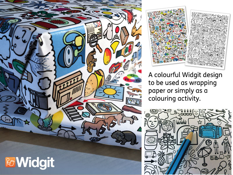 Widgit Symbol Wrapping and Colouring Paper
