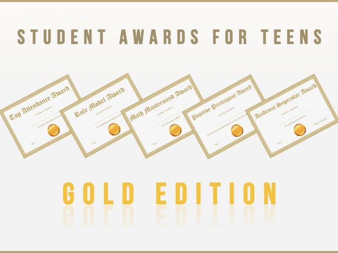 Student Awards for Teens Gold Edition