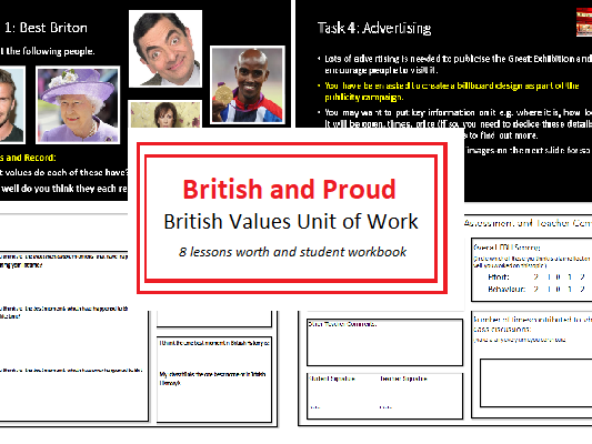'British and Proud' British Values unit of work