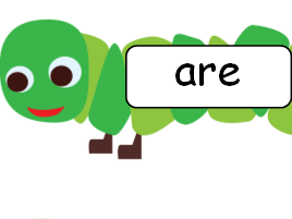 Phase 3 Tricky Words on Caterpillars