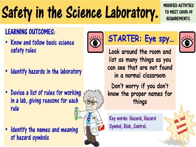 Lab Safety and Hazard Symbols KS3 Science