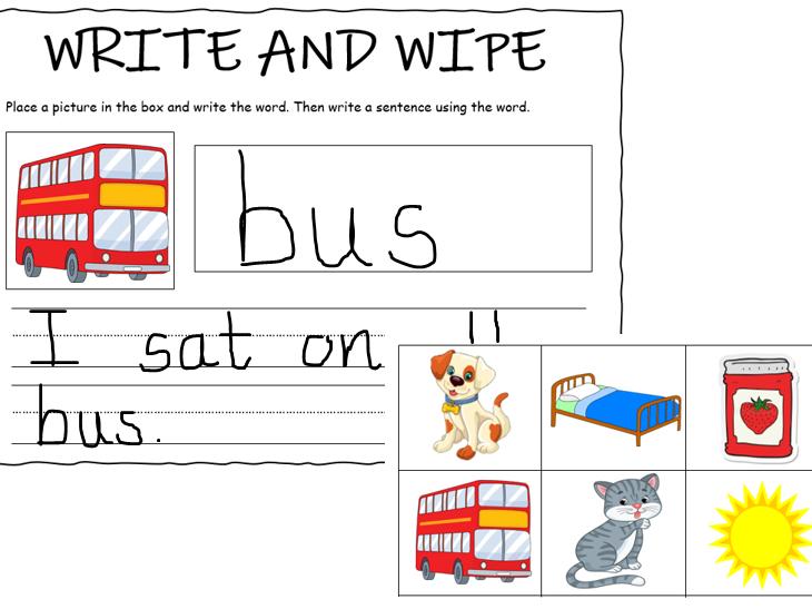 Write and Wipe CVC Words