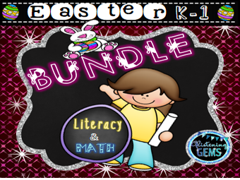 Easter Bundle - Literacy and Math Activities K-1