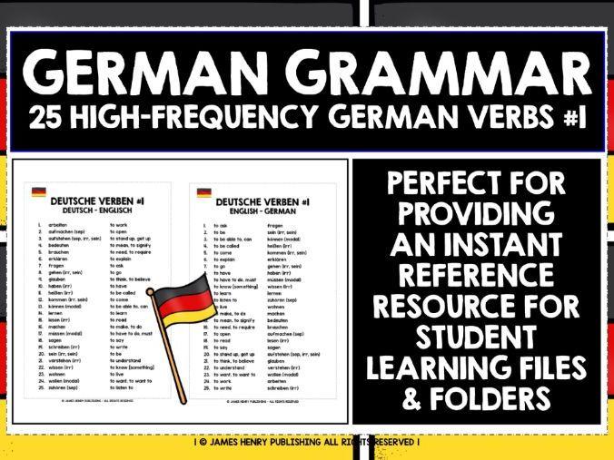 GERMAN VERBS REFERENCE LIST #1