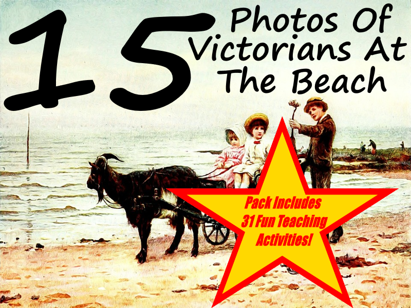 15 Images Of Victorian Children At The Beach PowerPoint Presentation + 31 Ways To Use This Resource