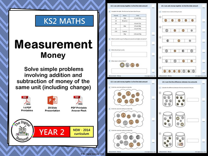 Year 2 - Money - Solve simple problems inc addition and subtraction - WRM - Blk 3, wk 9,10 (MASTERY)