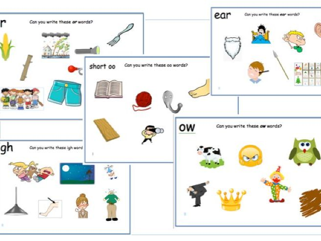 Y1 Phonics Bundle- Phase 3- Vowel Digraphs - Picture Mats- Can you spell these words?