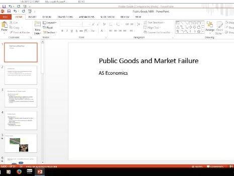 Economics - public and private goods