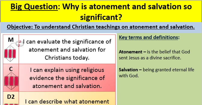 Atonement and Salvation - EDEXCEL GCSE (9-1) RS Spec B Paper 1 -Religion and Ethics  lesson