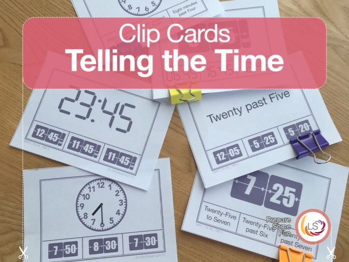 Telling the Time Clip Cards