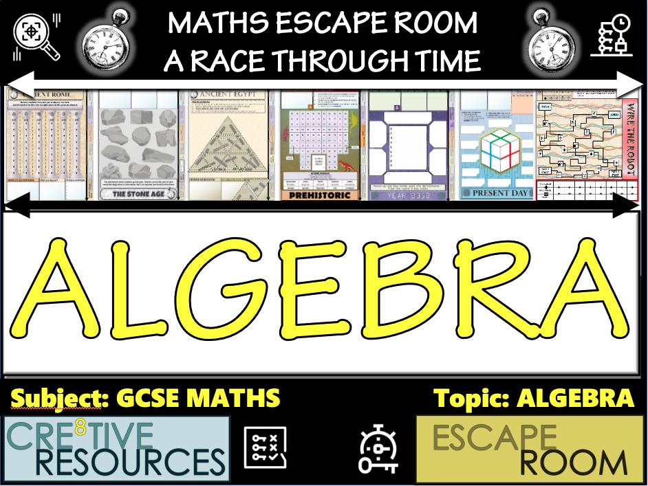 Algebra Maths Games Escape Room