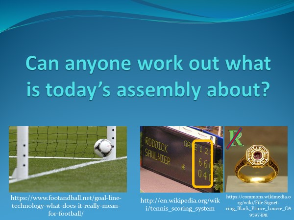 Goal setting Presentation / assembly / PowerPoint