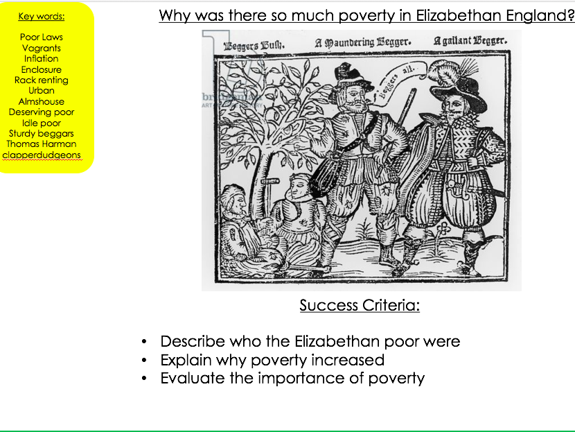 Why was there so much poverty in Elizabethan England?