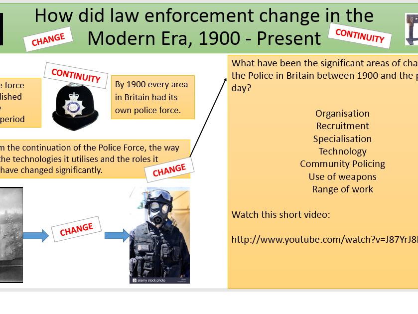 Crime and punishment - Law Enforcement 1900 - Present.  OCR History B