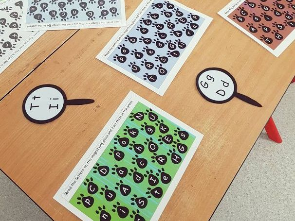 Bear hunt phonics activity- Find the letter
