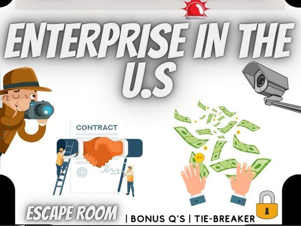 Enterprise and Entrepreneurs escape room
