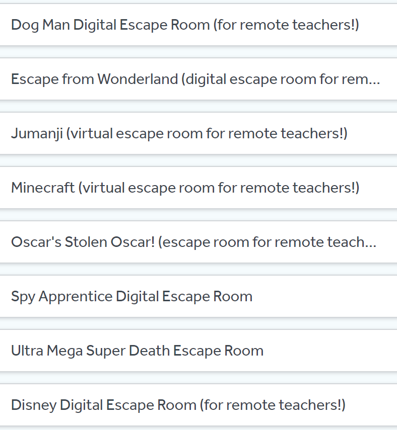 Digital Escape Rooms (for remote teachers!)